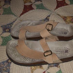 "Tan leather white mtn"" berk style shoes"